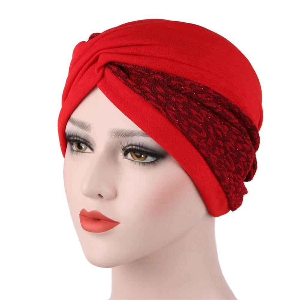 a29c8be0780 Women india hat muslim ruffle cancer chemo hat beanie scarf turban head  wrap cap moniment jpg