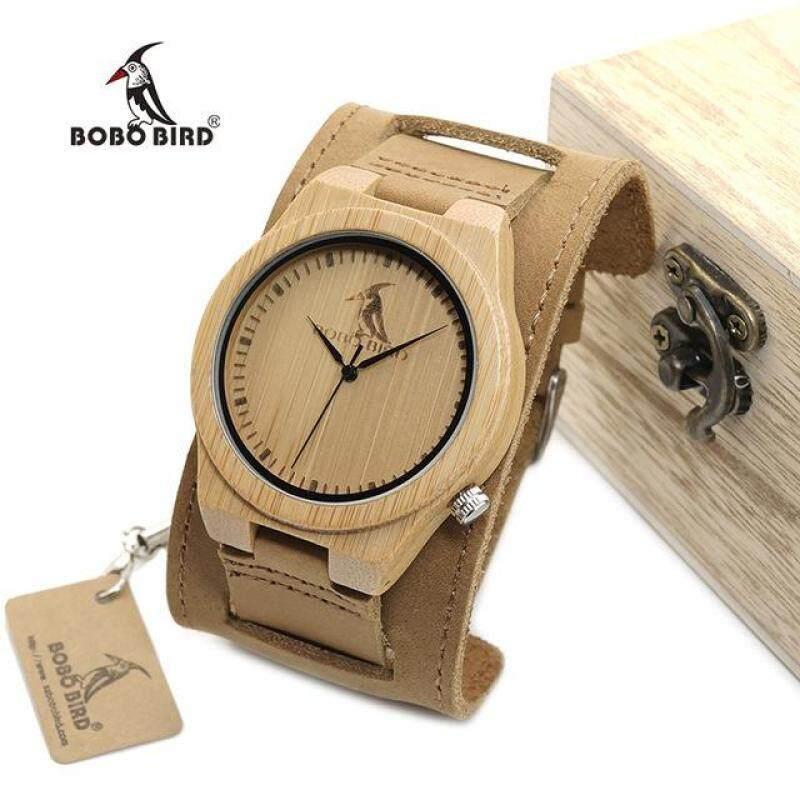 Men and Women Popular Bamboo Wood Dial Leather Strap Quartz Watch High Quality Fashion Wristwatch Malaysia