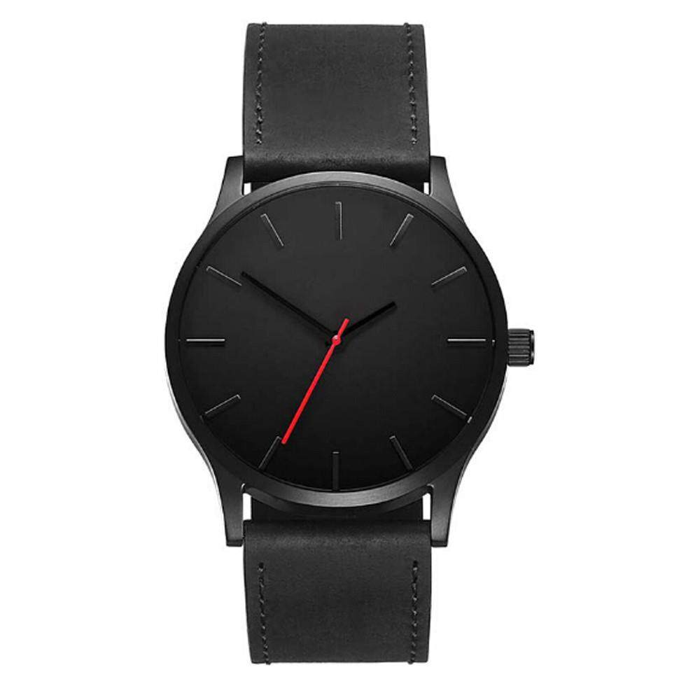 Free shipping Naponie Fashion Business Quartz Large Dial Watch For Mens Matte Belt Wrist Watch Malaysia