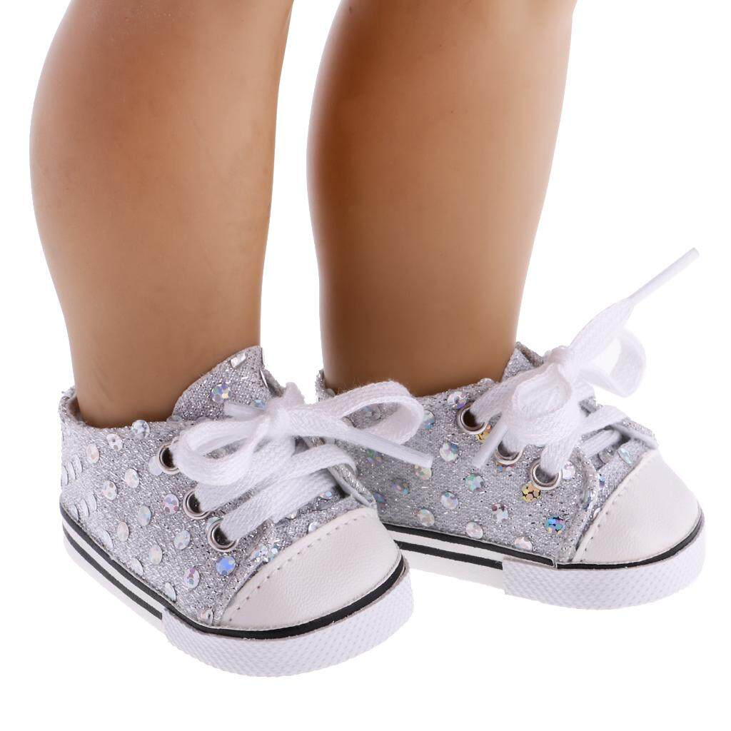 Bolehdeals 1 Pair Of Fahion Sequin Sneakers Shoes For 18inch American Girl Our Generation Doll Clothes By Bolehdeals.