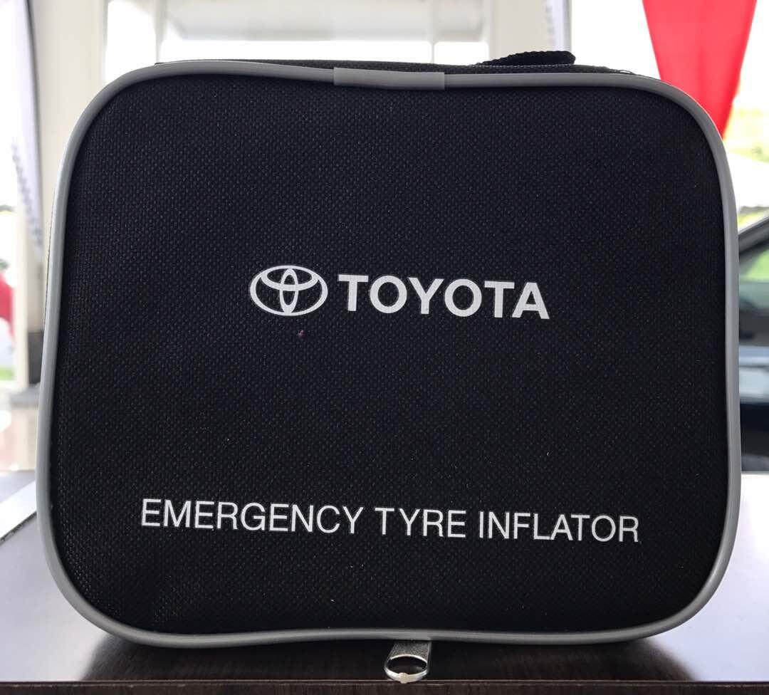 Genuine Toyota Portable Inflator Pump For Any Model Vehicle Use (new Packaging) By Toffee Accessories Shop.