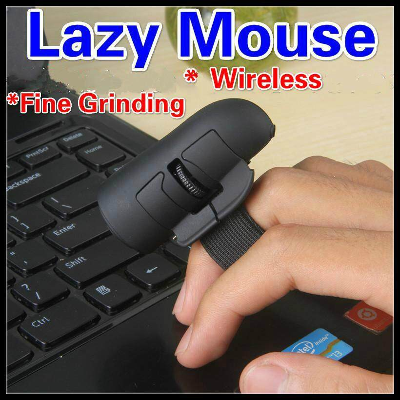 3D Lazy Finger Wearable Smart Mouse Bluetooth + Optical + Fine Grinding 2.4GHz Wireless Idle Dawdler Mouse Creative Mice Computer Notebook Laptop PC Tablet Accessories Mobile Phone Cellphone Flat Ring Mini Mice Support Windows/IOS/Android Malaysia