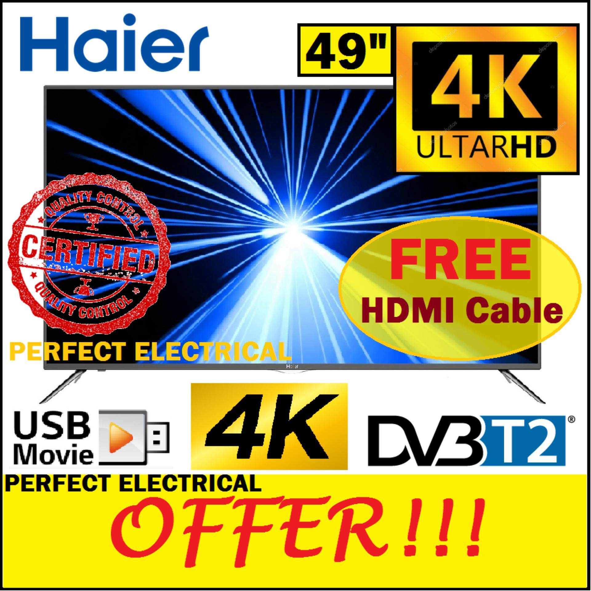 Buy Haier Led Lcd Tvs At Best Price In Malaysia Lazada Project Ultra Fast Acting Electronic Circuit Breaker 49 Inch Tv 4k Uhd Dvb T2 Le49f1000u