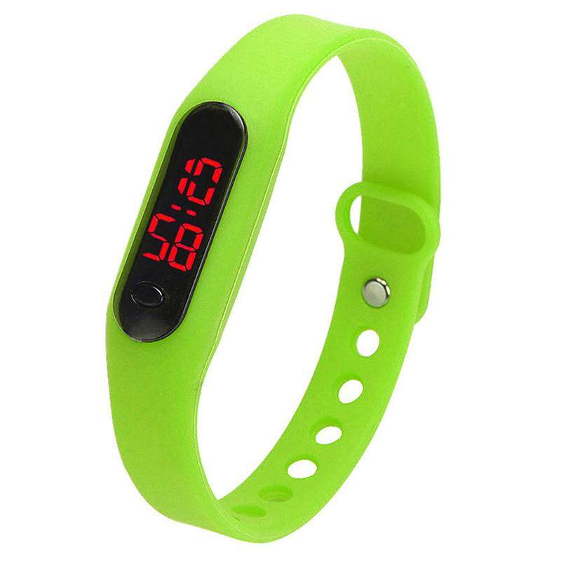 Fashion child movement Silica gel LED Watch Green Malaysia