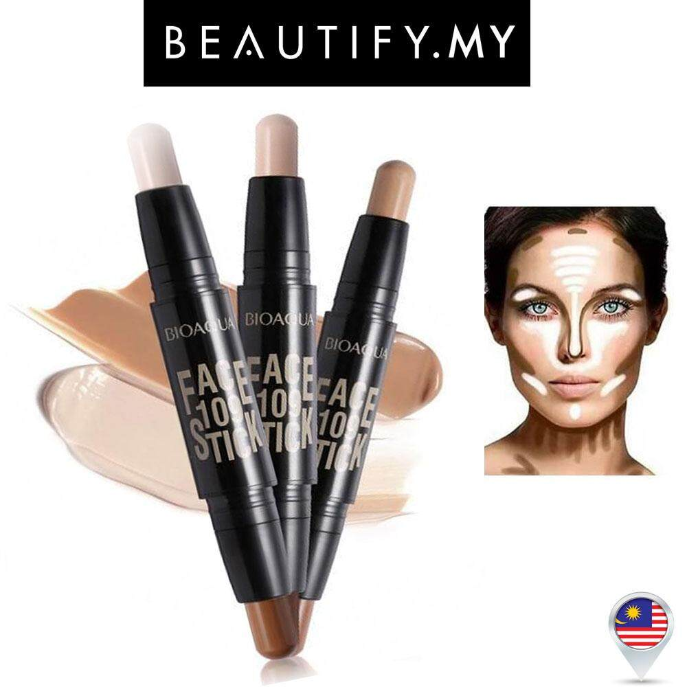 Bioaqua Face 109 Stick Duo Contour [3 Colour To Choose] By Beautify.my.