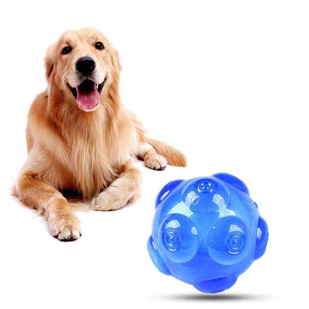 2pcs Soft Rubber Dog Balls Strong Bite Resistant,squeaky Balls For Small,medium And Large Dogs(yellow And Blue) By Ltplaza.
