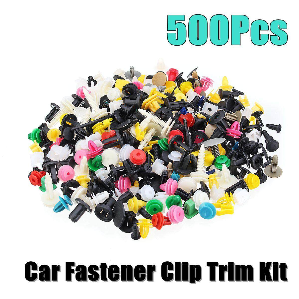 Clips Buy At Best Price In Malaysia Push On Wiring Harness Clip New 500pcs Plastic Car Fastener Bumper Fender Trim Kit Rivet Door Panel