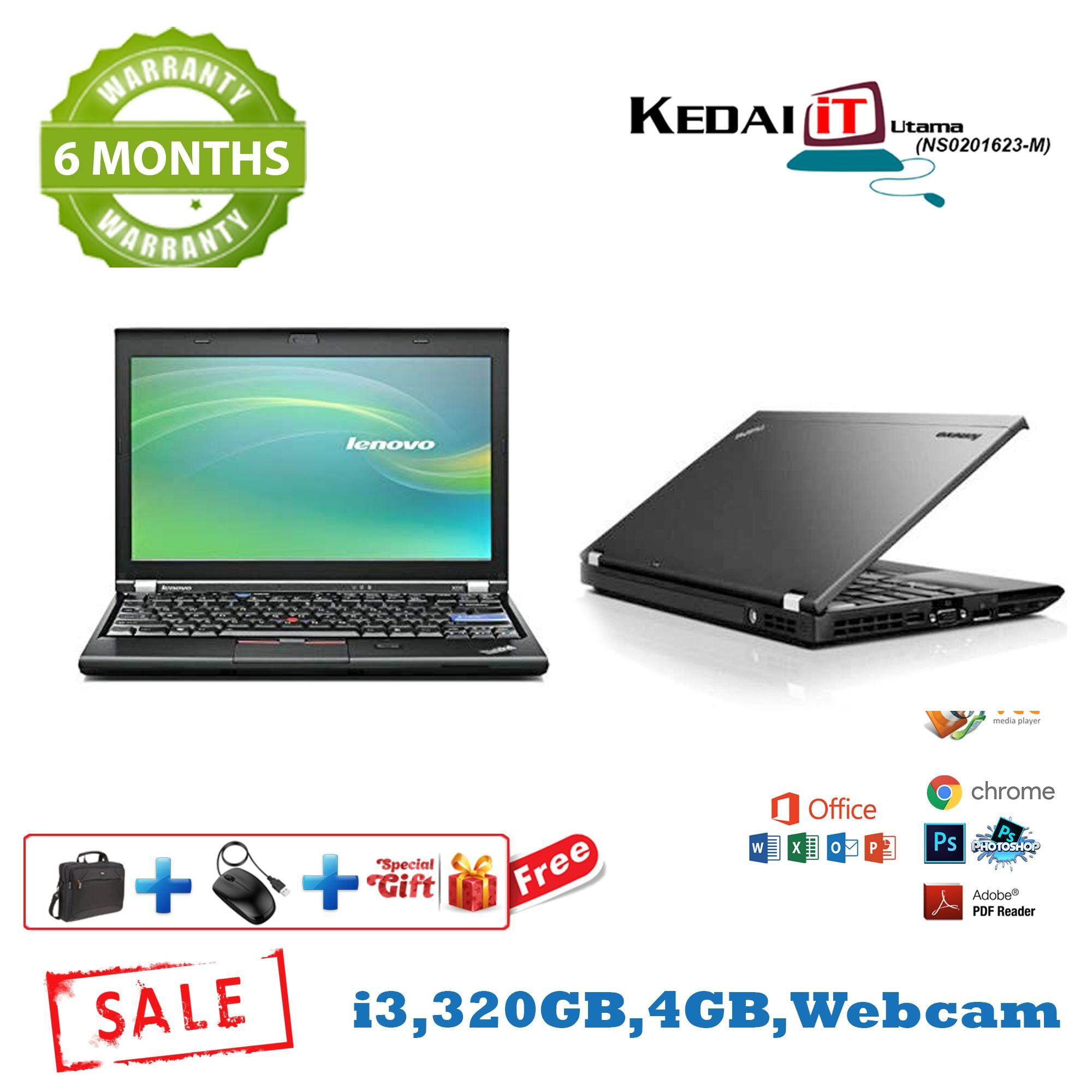 Lenovo x220i i3 2nd Gen Laptop 6 Months Warranty , (Factory Refurbished) Malaysia