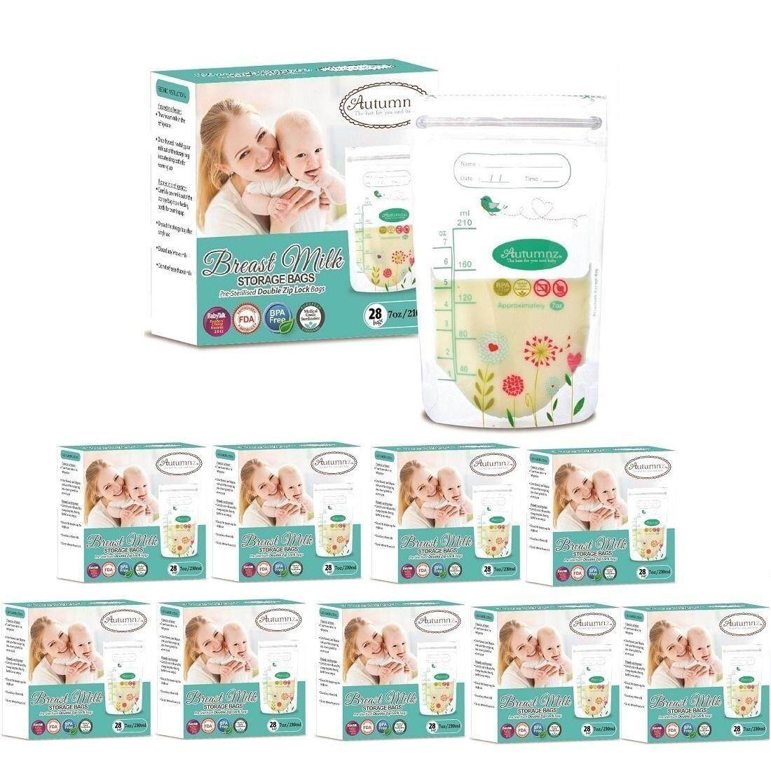 Autumnz - Double ZipLock Breastmilk Storage Bag (25 bags) (7oz/210ml) *10box*