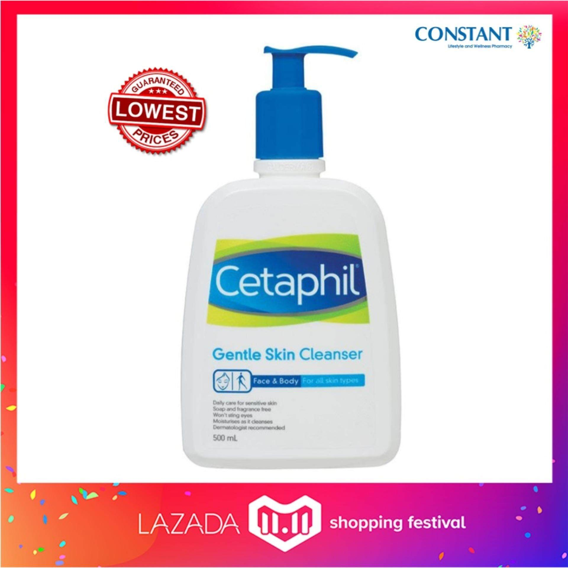 Cetaphil Products For The Best Price In Malaysia Moisturizing Cream Face Ampamp Body Gentle Skin Cleanser 500ml