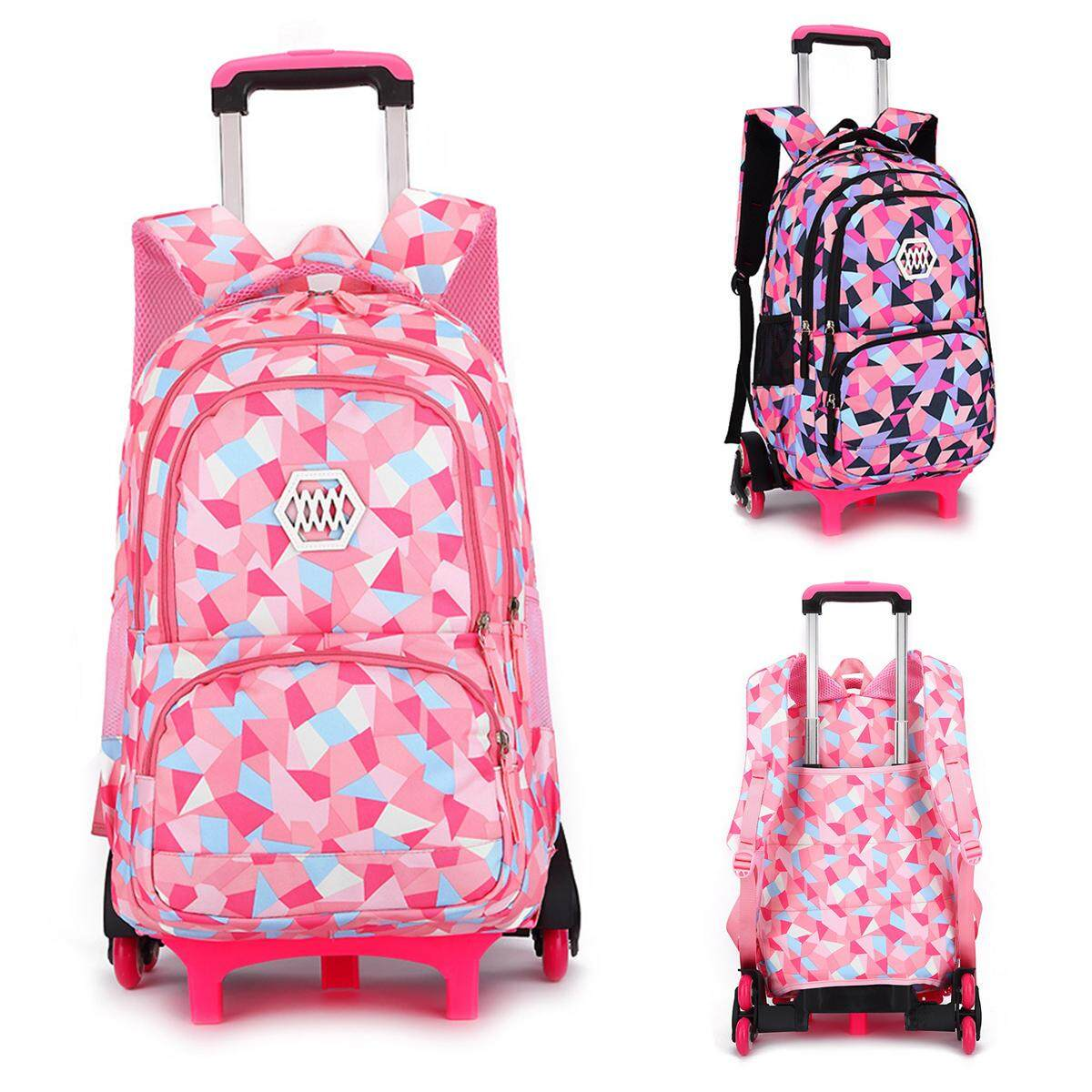 Girls Boys Children Trolley Backpack With 6 Wheels Kids Wheeled School Bag New 6wheel By Five Star Store.