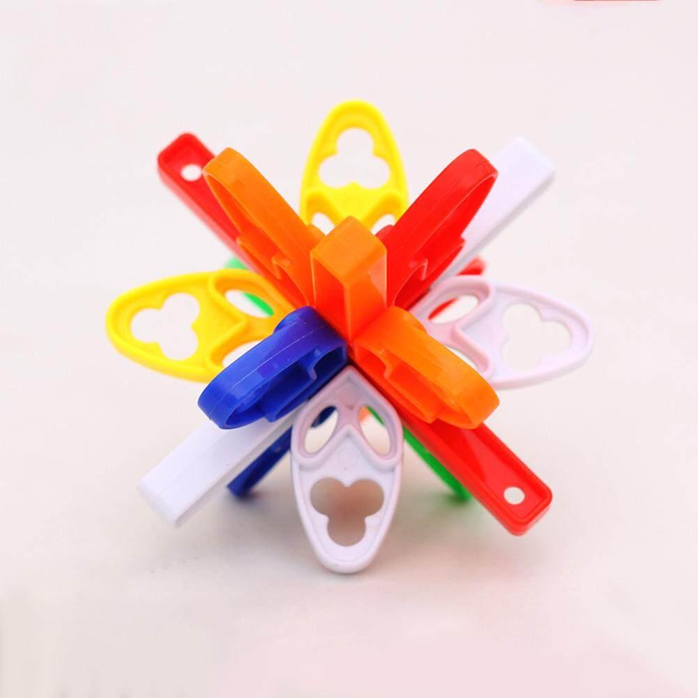 CO Children Fun Fidget Puzzle Balls Party Favors Block Building Toys  Carnival Prizes Brain Teaser Puzzles for Kids/Adults Style:Plum Lock