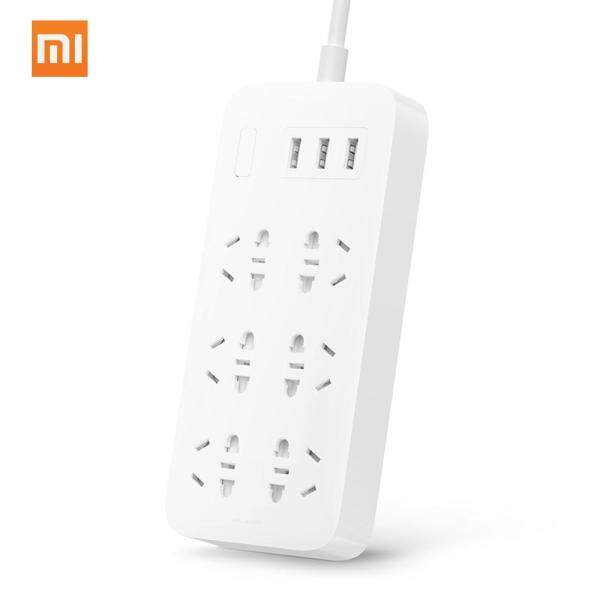 Xiaomi Mijia Power Strip Converter 6 Sockets Portable Plug Travel Home Adapter with 3 USB Quick Charge Port Plug Outlet Switch 250V