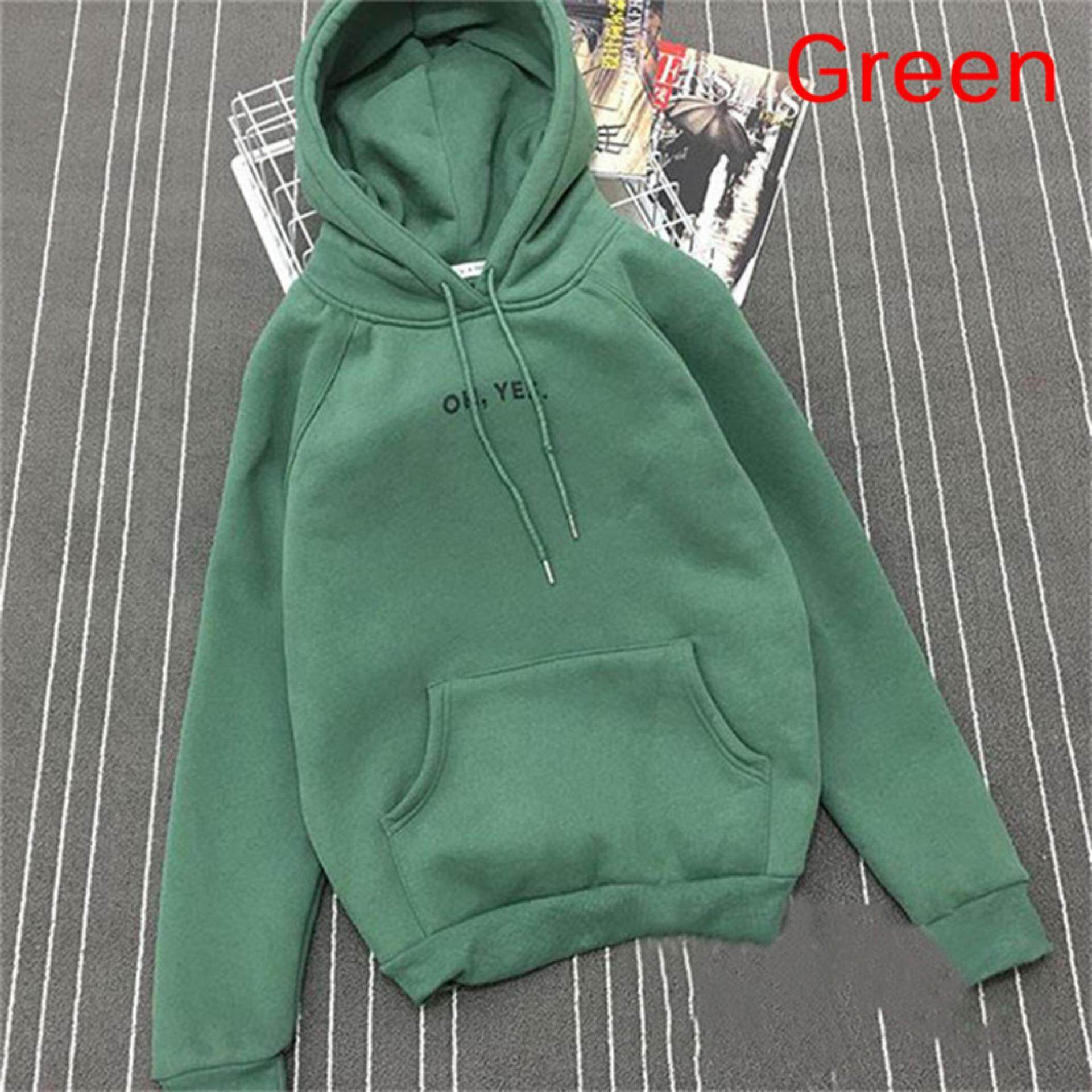 The Fashion Long Hoodie Female Thin Loose Korean Students Wind Plus Velvet Hat Coat With Thick