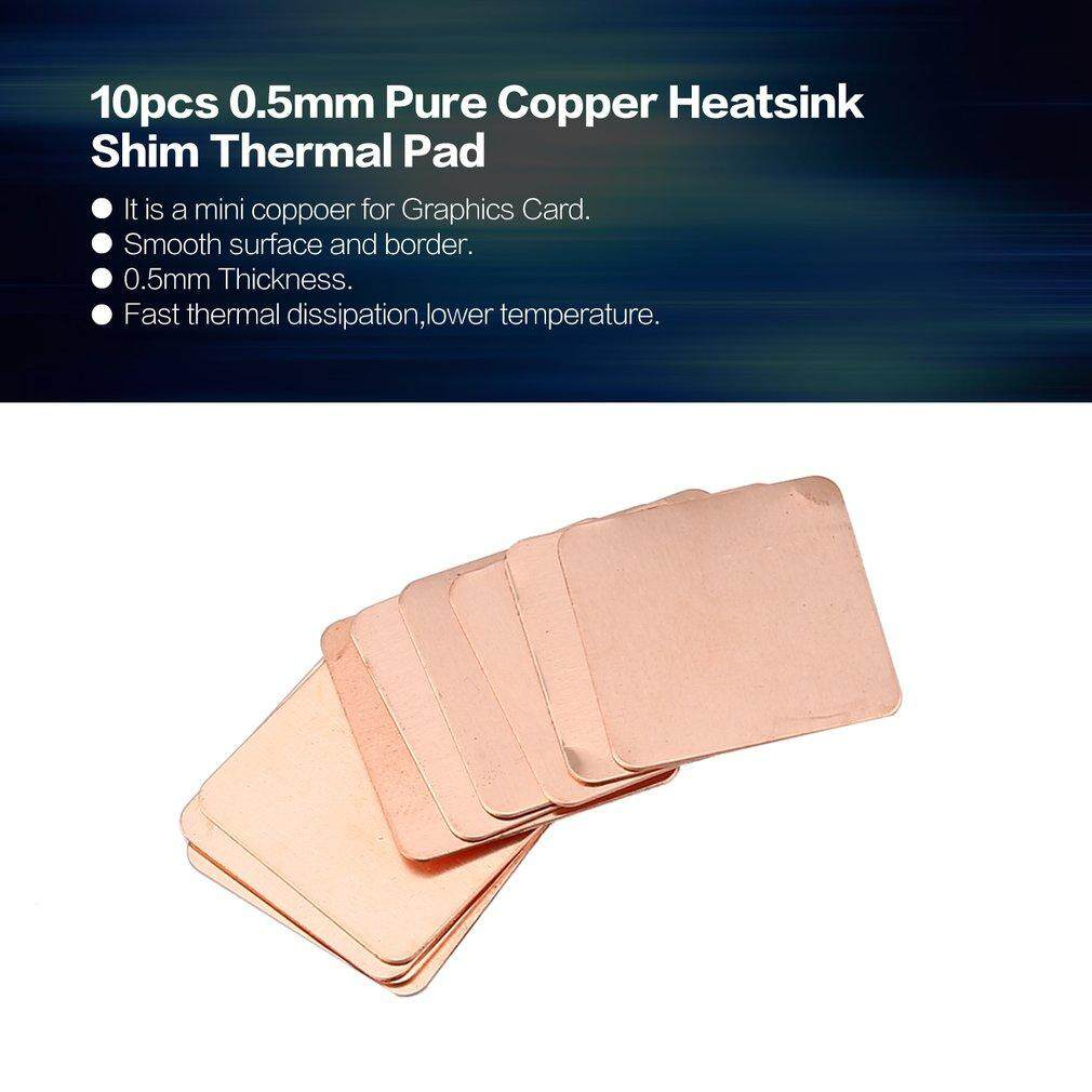 Crazy Sale 10pcs 0 3mm Pure Copper Heatsink Shim Thermal Pad for Laptop  Graphics Card