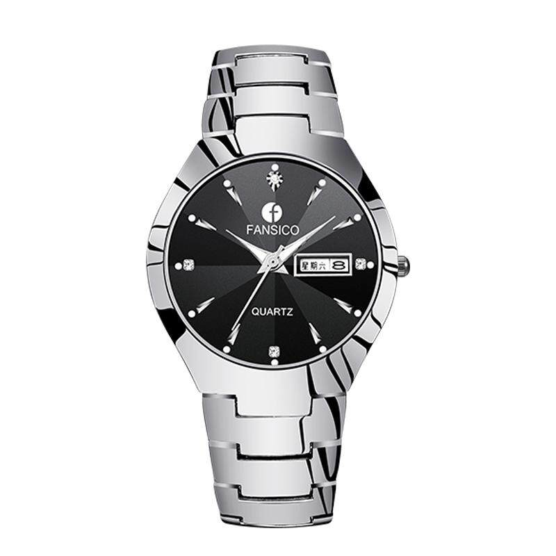 Product Tungsten Steel Mens Watch Quartz Womens Watch Waterproof Business Ultra-Thin Ladies Watch Couples Students Watch Malaysia