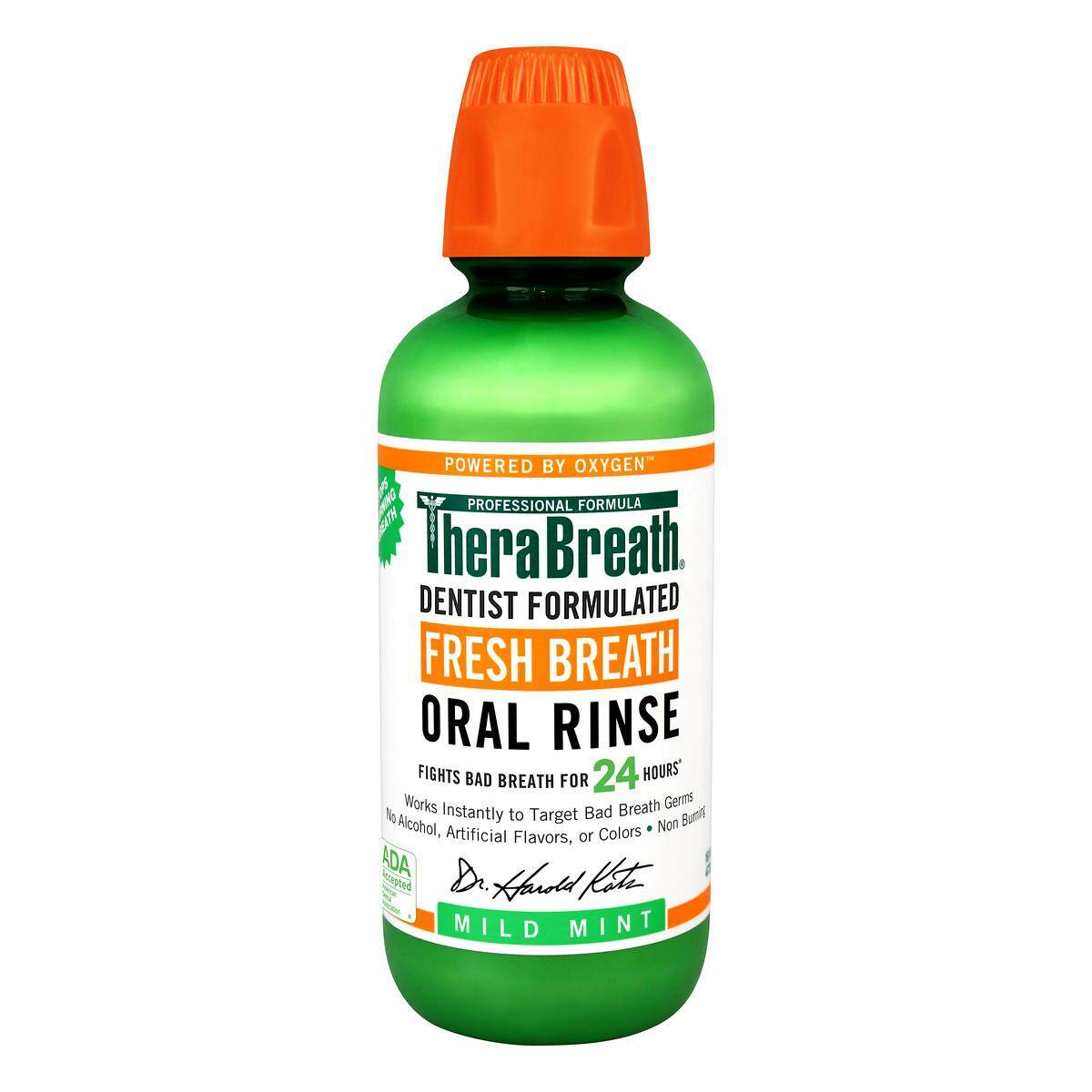 16 Ounce Therabreath Dentist Recommended Fresh Breath Oral Rinse - Mild Mint Flavor By Yjcventures.
