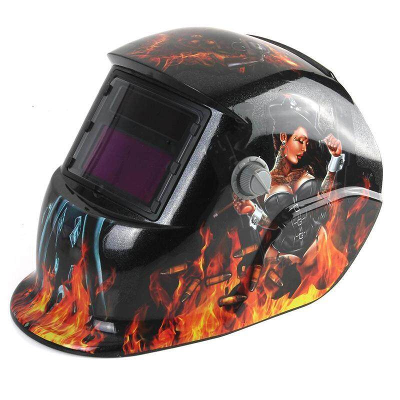 Welding Mask Hood Solar Automatic Welding Helmet (Solar Power for Recharge) Face Protection (Beauty)