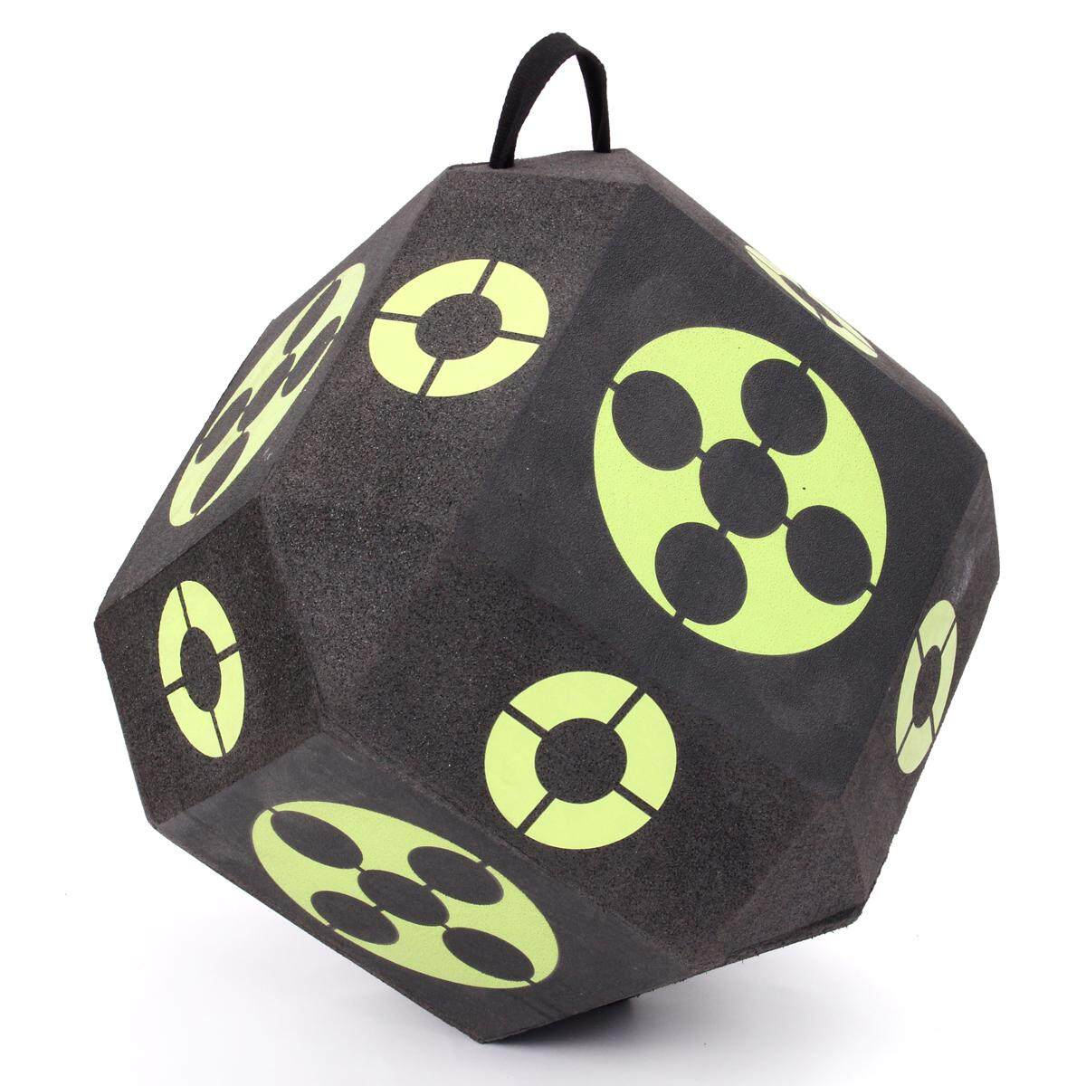 3D Cube Archery Target 18-Sided High Density Self Healing XPE Outdoor Reusable
