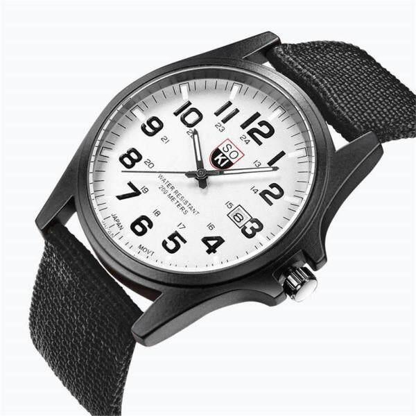 SOKI Couple Fashion Nylon strap Analog Quartz Round Wrist Watch Watches Malaysia