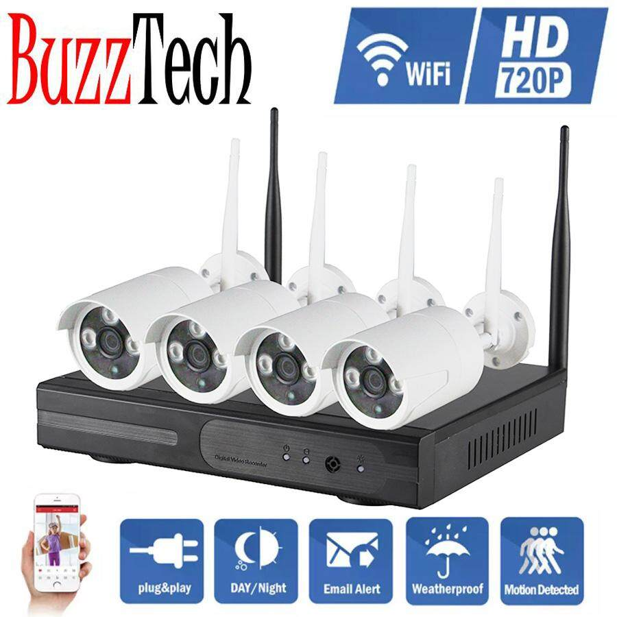 Buzztech Nvr Kits 4ch Nvr Cctv System Hd 720p 960p 1080p Ip Camera Wireless Surveillance Wifi Kits P2p Outdoor Ir Night Vision Plug And Play By Buzztech.