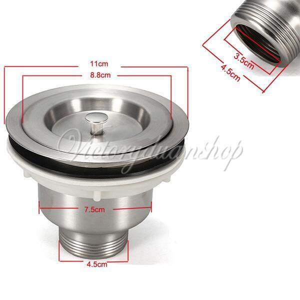 Kitchen Stainless Steel Water Bar Sink Stopper Drain Waste Plug Strainer Basket 110MM