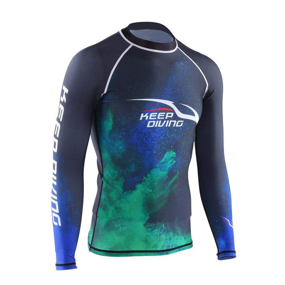 Keep Diving Men UV Protection Breathable Fast Dry Long Sleeves Diving Top Wetsuit Jacket (3XL