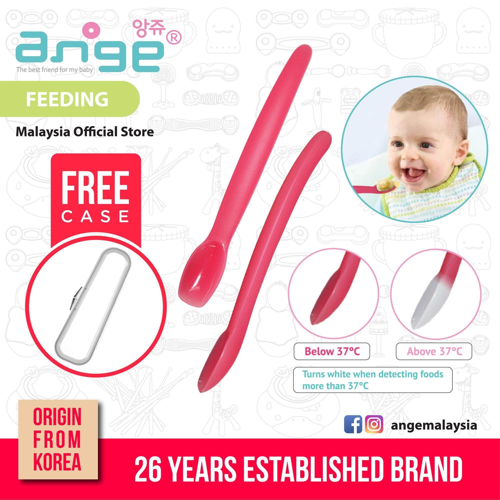 Korea Ange Heat Sensitive Feeding Spoon with Soft Sensory BPAFree Color Changing