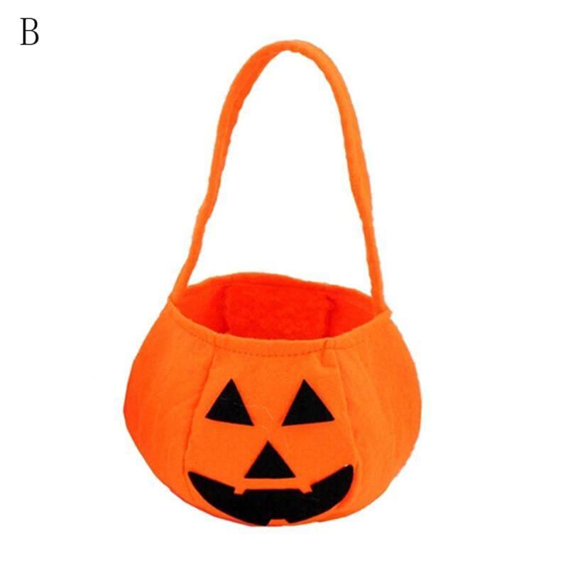 8d39f2fde4 Kids Halloween Pumpkin Bags Kids Handbag Bucket Child Funny Candy Gifts Bags  A