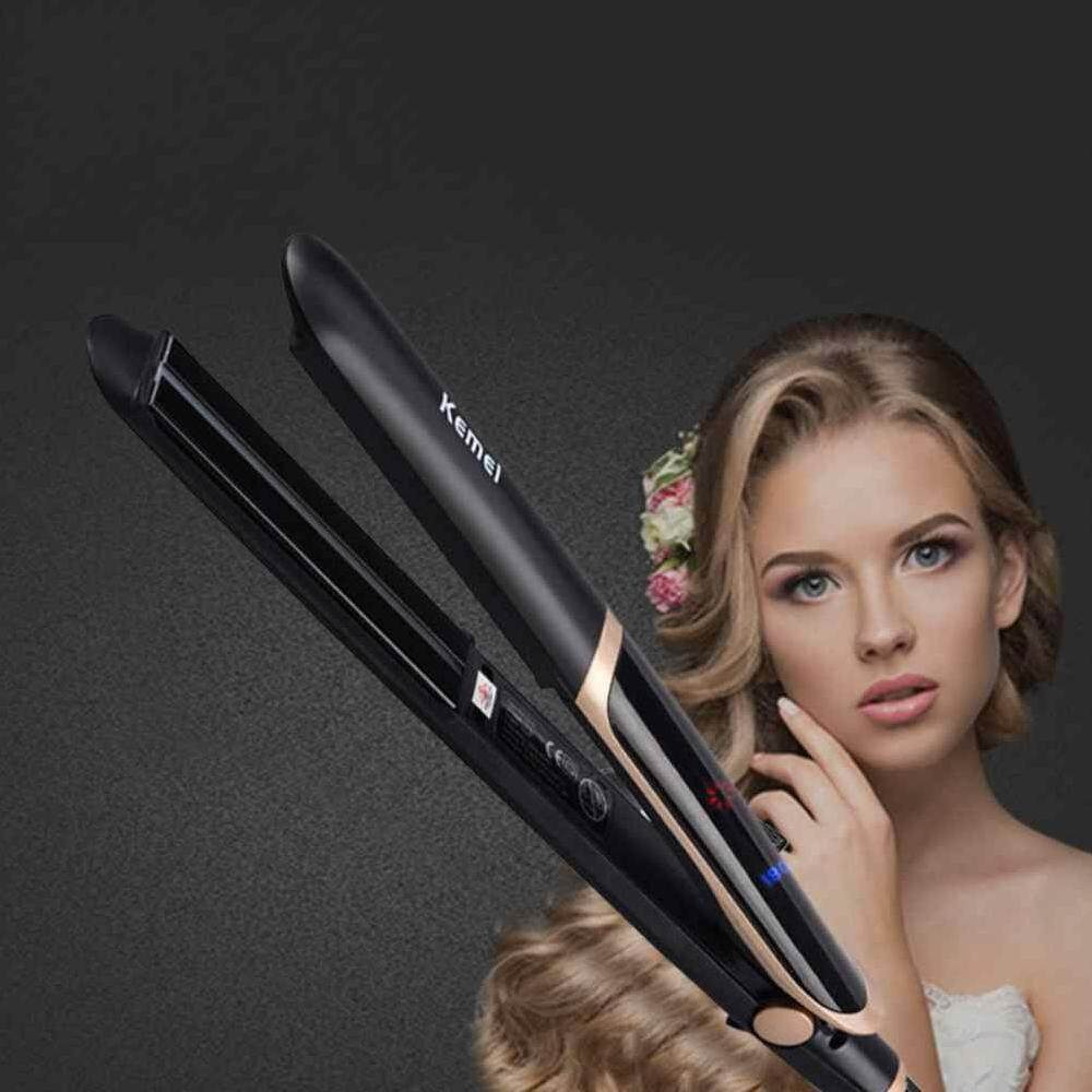 Hair Iron Straightener With Best Online Price In Malaysia Beauty Catok 2 1 Fuan Kemei Infrared Flat Curler Professional Ceramic Four Temperature Adjustable