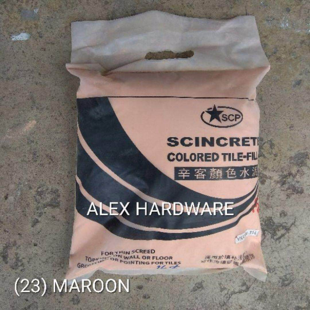 3KG Maroon - Color Cement Grout; Simen warna; 颜色洋灰