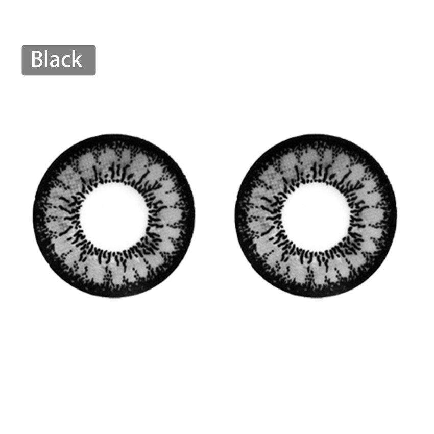 1 Pair Fashion Colored Cosmetic Contact Lenses Circle Big Eyes Makeup Beauty By Legendseller.