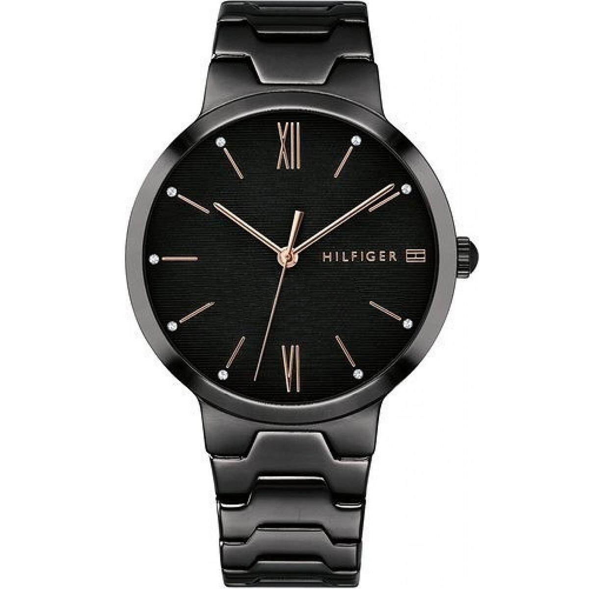 Tommy Hilfiger Avery Black Stainless-Steel Case Stainless-Steel Bracelet  Ladies 1781960 c26d0ac9e04