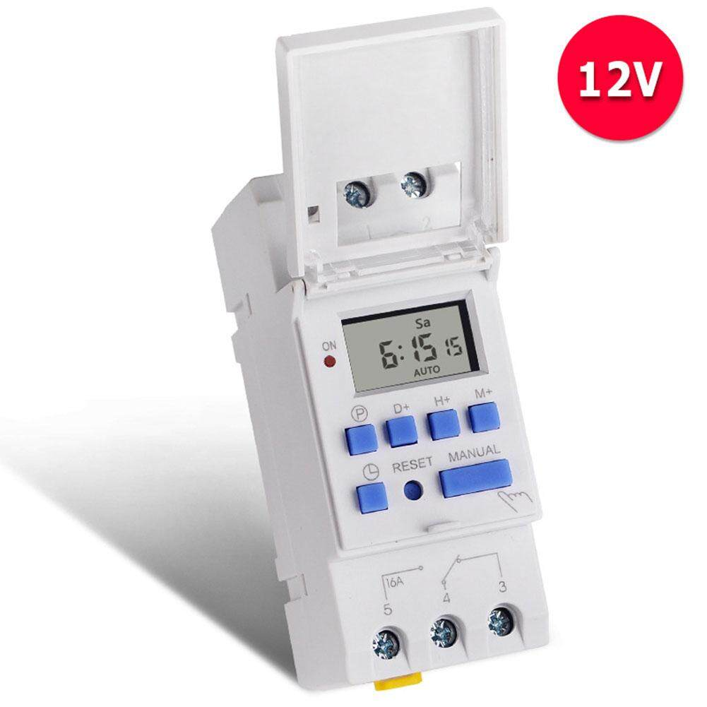 SYD# Microcomputer Electronic Weekly Programmable Digital Timer Switch Time Relay Control 12 V