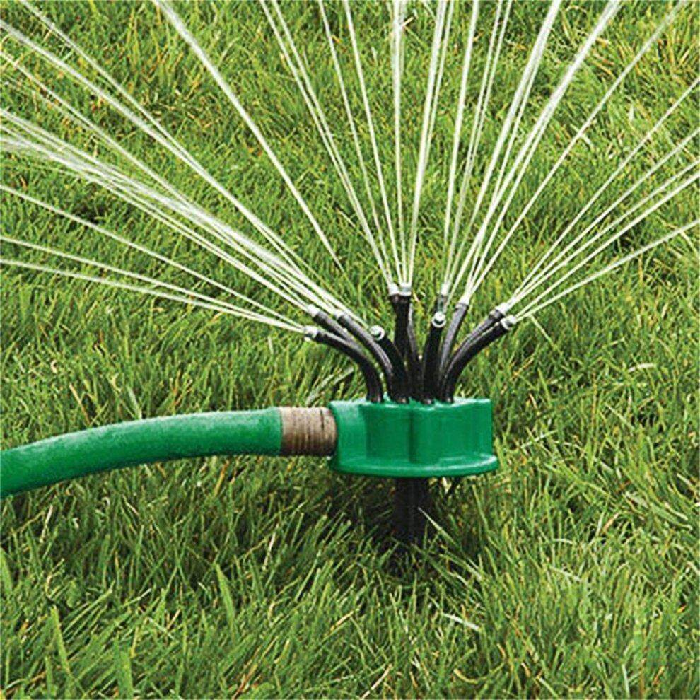 Green 360 Degree Rotating Sprinkler Noodle Head Water Sprinkler Garden Watering Sprinkler for Garden Irrigation Roof Cooling