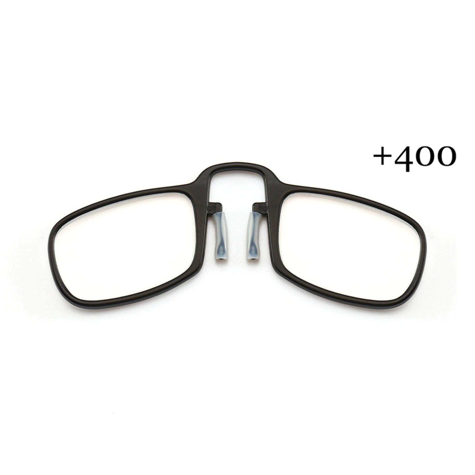 b8801e2a3321 2019 Fashion Clip Nose Portable Personality Old Light Mirror Elderly  Exclusive Reading Glasses Black 400