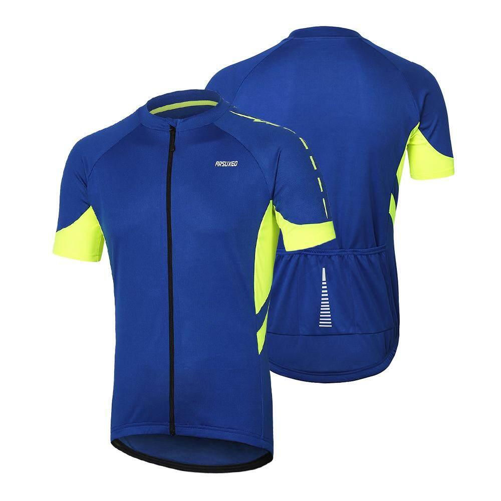 Arsuxeo Men Cycling Jersey Half Sleeve Biking Top Outdoor Sport Wear Bike  Shirt eb8968ed6