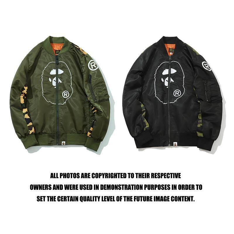 8a8865154 BAPE Men Jackets Head Stitching Camouflage Camo Fashion Men Clothing Coats  Bomber Jackets