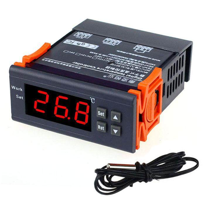 TOMATOLL 220V LCD Microcomputer Temperature Controller Thermostat with Sensor