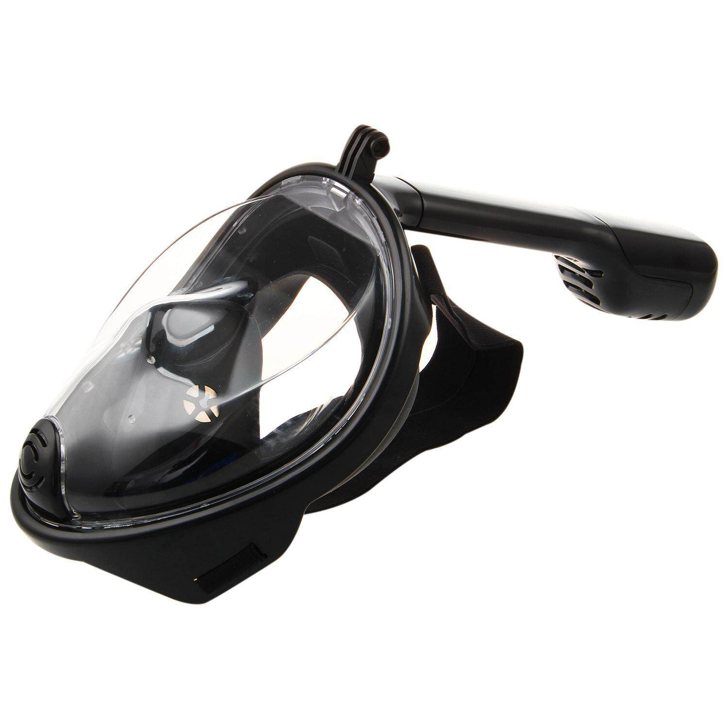Swimming Diving Snorkeling Full Face Mask Surface Scuba For Gopro S/m Black By Yomichew.
