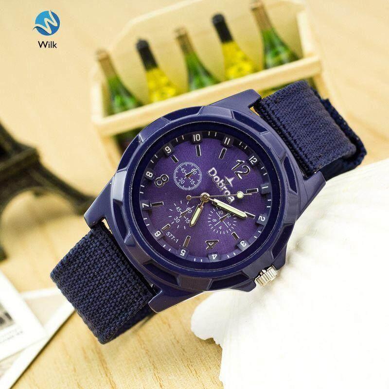 Braided Canvas Band Watch Quartz Wristwatches Luminous Male Clock Malaysia