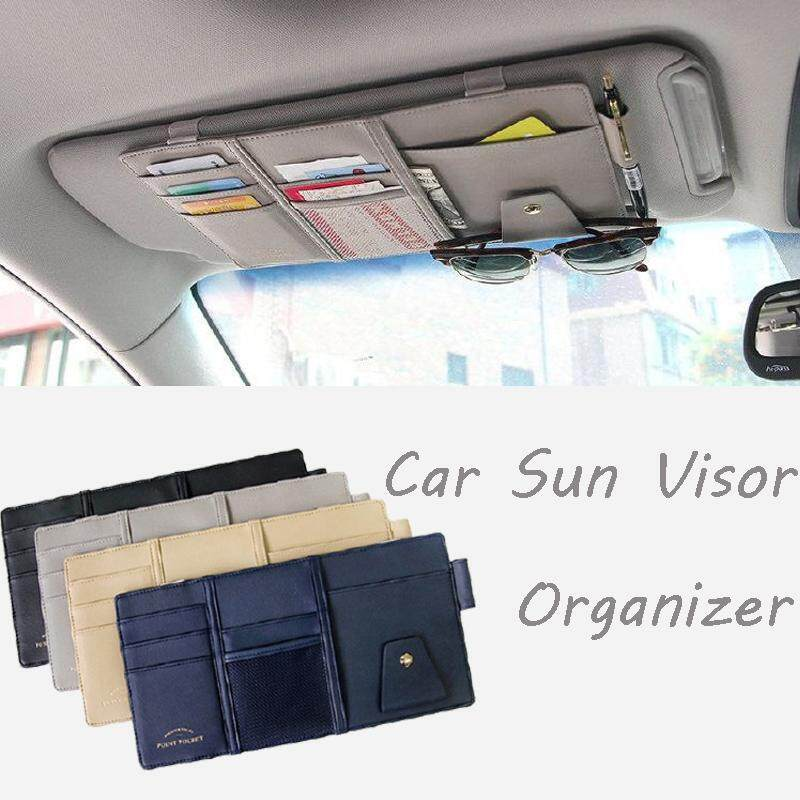 Car Sun Visor Storage Point Pocket Documents Organizer Bag Pouch Card Holder Credit Card Namecard Pen Grey By Ebeauty Store.