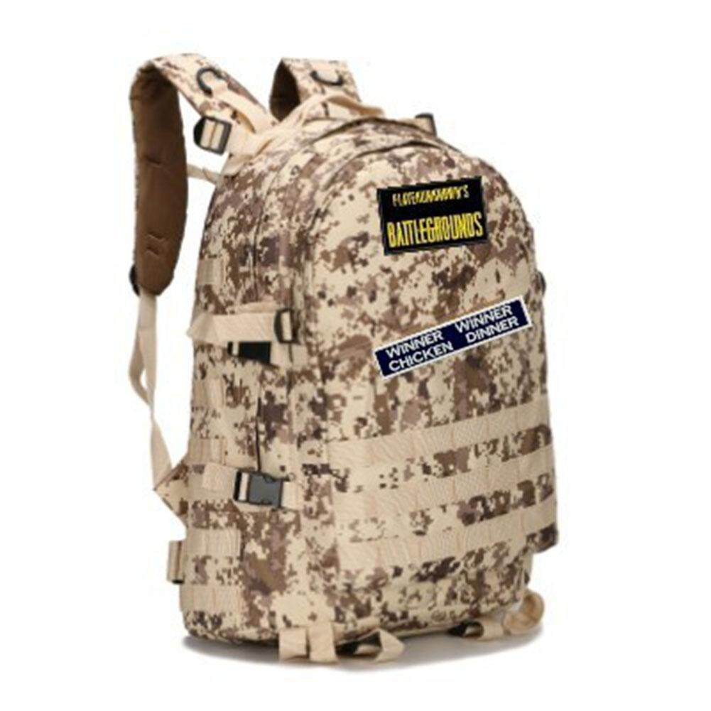 Veecome 16 Inch Playerunknowns Battle Grounds Pubg Winner Chicken Dinner Level1-3 Backpack Canvas Backpack By Veecome