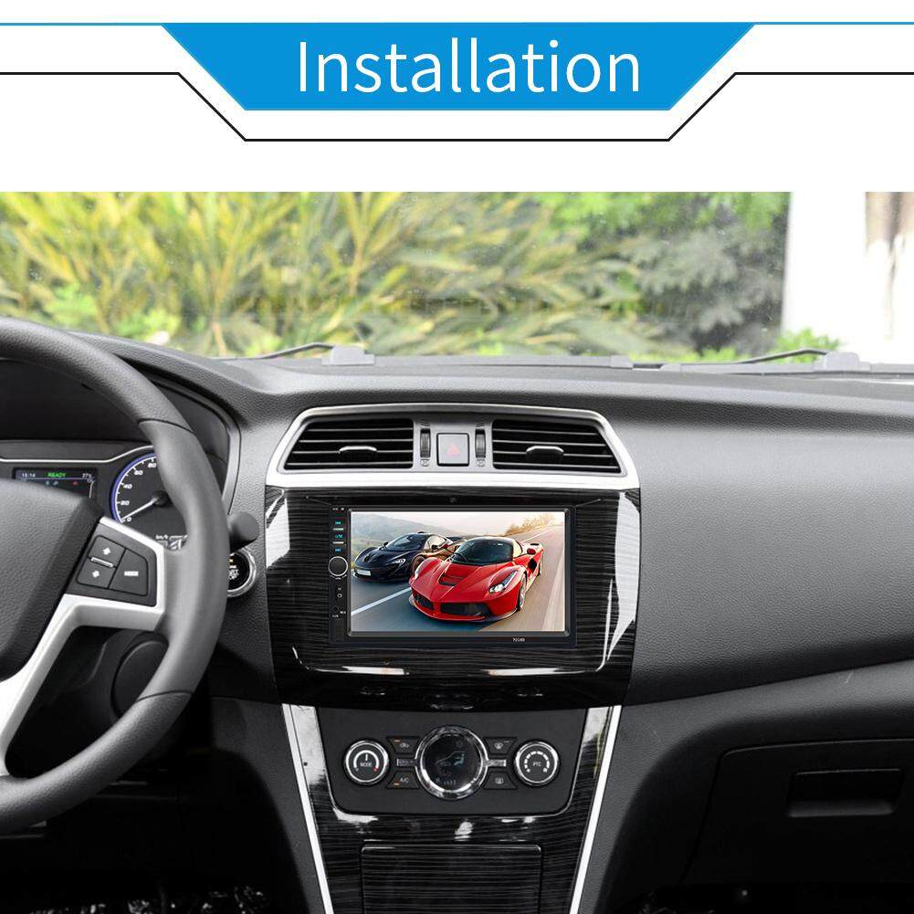 RYT 7 inch 2 DIN Head Unit Car Stereo Bluetooth MP5 Player Touch Screen BT  Radio FM USB AUX Connecting Camera Supporting IOS Android System