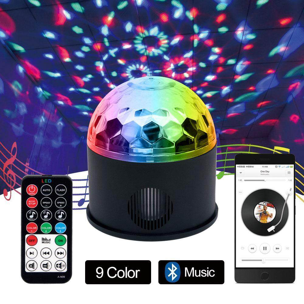 Orzbuy Disco Ball Dj Light Bluetooth Speaker Party Lights Club Light 9 Colors Strobe Crystal Magic Ball Lights With Usb Charging Wireless Phone Connection Remote For Wedding Ktv Karaoke Home Party Club By Orzbuy.