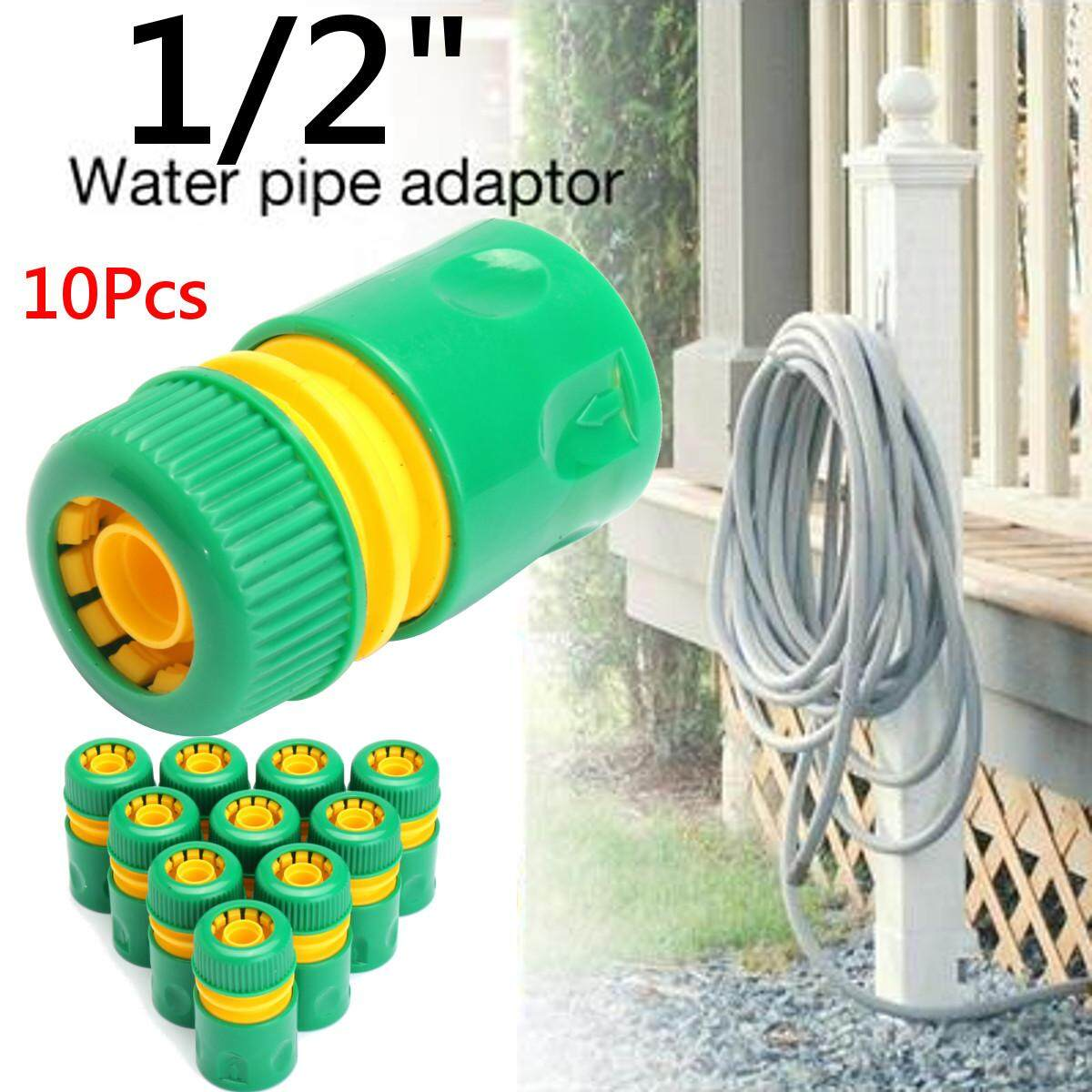 10pcs 1/2Garden Tap Water Hose Pipe Connector Quick Connect Adapter Fitting Watering WO
