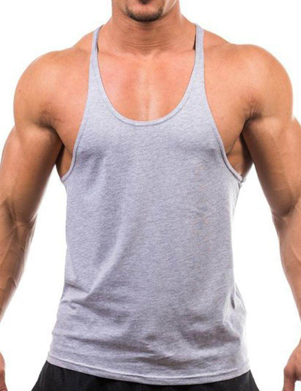 Yunmiao Mens Fashion Basic Solid Training Bodybuilding Gym Tank Tops Workout Fitness Vest Size:m-Xxl(m L Xl Xxl) By Yantai Yunmiao Dianzi Shangwu Ltd.