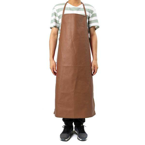 PU Leather Welding Apron Equipment Heat Insulation Protection Welders Kitchen Utility Work Safety - Coffee (coffee)