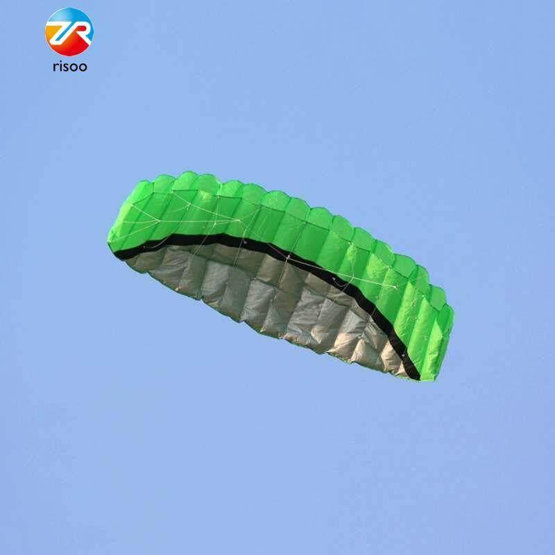 2.5m Outdoor Sport Kite Power Stunt Parachute Parafoil Dual Line Kite Durable By Risoo.