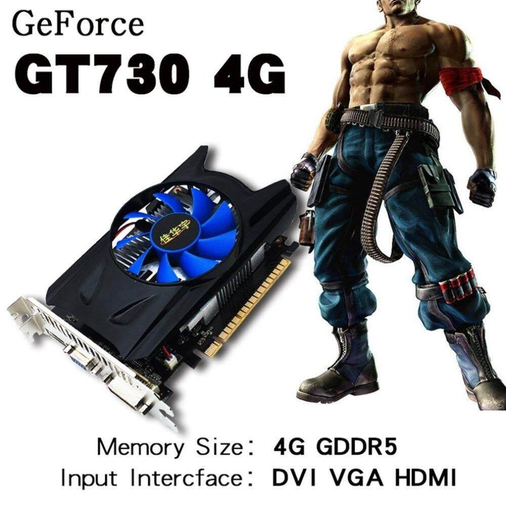 NVIDIA GT730 4GD3 128bit PCI-express2 0 Desktop HD Video Card Independent  Game Video Card Graphics Card HDMI+VGA+DVI Support DirectX11